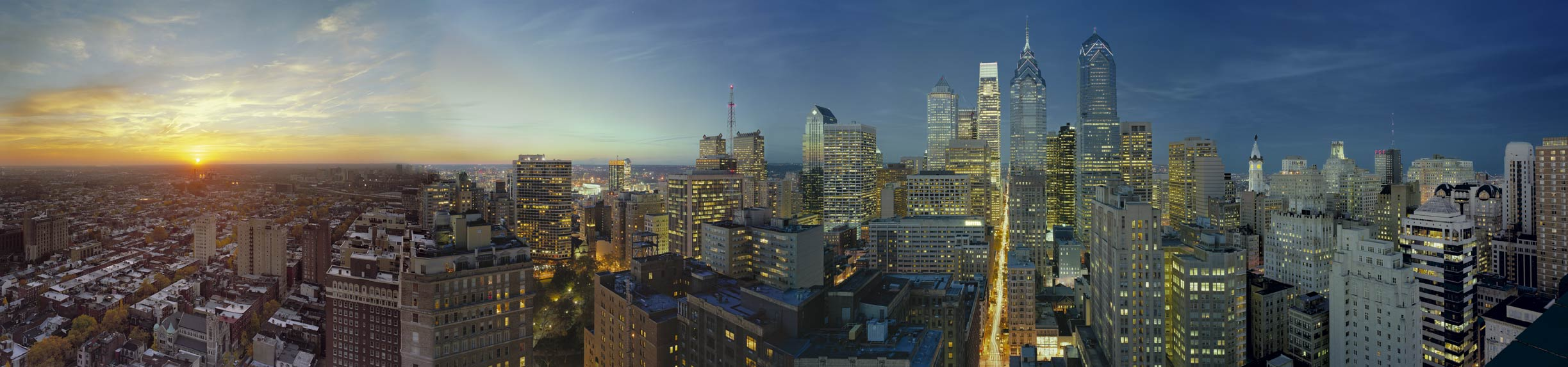 Philadelphia skyline by Don Pearse Photographers